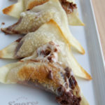 Baked S'mores Wontons