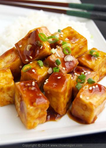 Teriyaki Roasted Tofu Chow Vegan